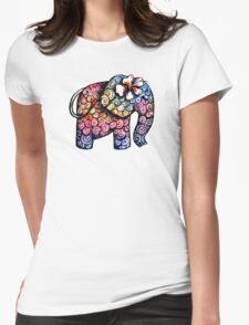 Tattoo Elephant Womens Fitted T-Shirt