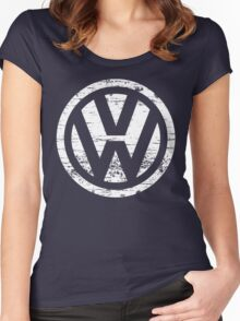 VW Volkswagen Logo Women's Fitted Scoop T-Shirt