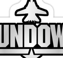 Top Gun Sundown (with Tomcat) Sticker
