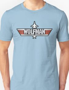 Top Gun Wolfman (with F14) Unisex T-Shirt