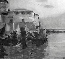 Boccadasse BW by Lorenzo Castello