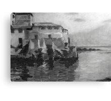 Boccadasse BW Canvas Print