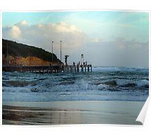 Port Campbell pier at dusk Poster