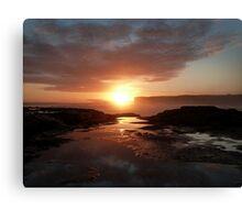 Sunset at Sherbrook River Canvas Print