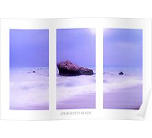 Blue Horizon Triptych Poster