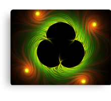 Van Gogh's Shamrock from Spider Mum Flame Canvas Print