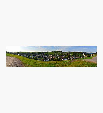 Markersbach Panorama Photographic Print