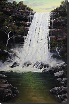 Waterfall In Motion by John Cocoris