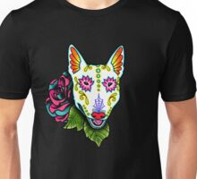 Day of the Dead Bull Terrier Sugar Skull Dog Unisex T-Shirt