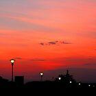 Sunset along the river Adige Verona by John Wallace