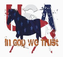 In God We Trust-Patriotic Horse by Ginny Luttrell
