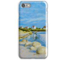 Lokken Beach in Jylland, Denmark in the early evening iPhone Case/Skin