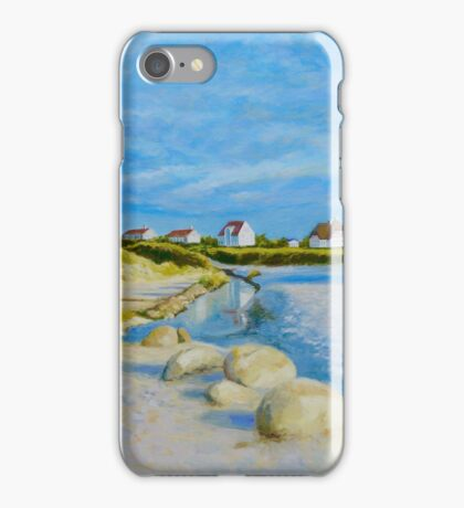 Lokken Beach in Jylland, Denmark in the early evening iPhone Case/Skin