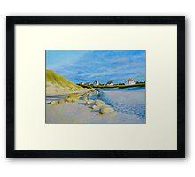 Lokken Beach in Jylland, Denmark in the early evening Framed Print