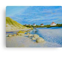 Lokken Beach in Jylland, Denmark in the early evening Canvas Print