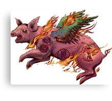 Porky Panic Canvas Print