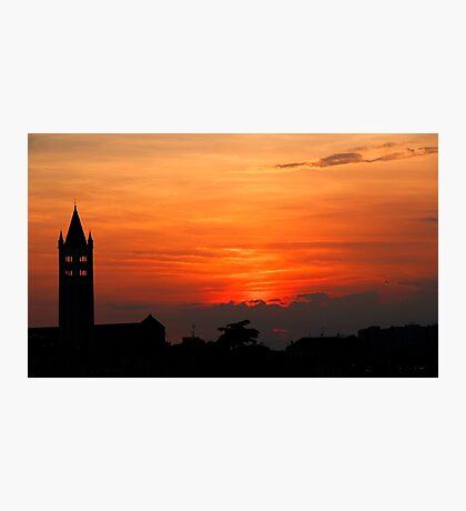 Sunset in Verona Photographic Print