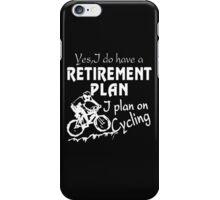 Cycling plan iPhone Case/Skin