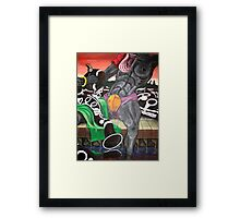 """"""" Cancer and a Clarinet Constrictor  """" Search for a cure  Framed Print"""