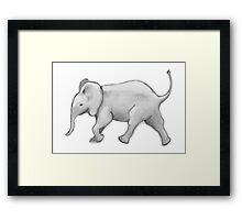 Cute elphant Framed Print