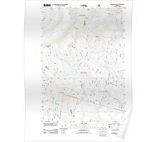 USGS Topo Map Oregon Wapinitia Pass 20110809 TM Poster