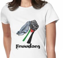 PALESTINE FREEDOM Womens Fitted T-Shirt
