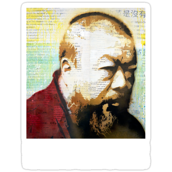 Tribute to Ai Weiwei: 21st Century Revolutionary (Black) by PONSHOP