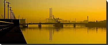 Dublin's Poolbeg Towers around Sunrise by Presence