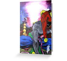 """ Jester's Hookah- Contemporary Art Figure "" Greeting Card"