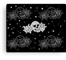 Skulls & Roses Canvas Print