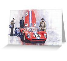 Ferrari 206 SP Dino 1966 Nurburgring Pit Stop Greeting Card
