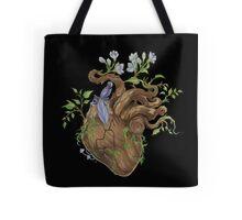 Heart - Wood Tote Bag