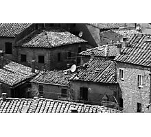 Sienna Rooftops Photographic Print