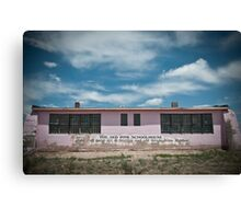 Old Pink Schoolhouse Canvas Print