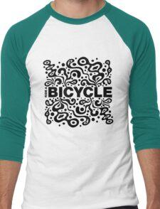 Ride a Bicycle - funky Men's Baseball ¾ T-Shirt