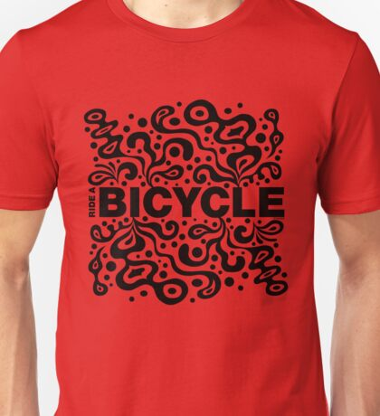 Ride a Bicycle - funky Unisex T-Shirt