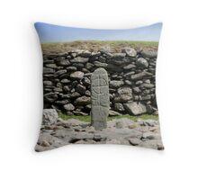 Gallarus stone Throw Pillow
