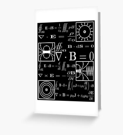 Maxwell's Equations Greeting Card