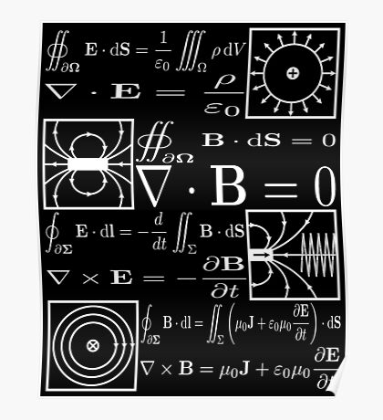 Maxwell's Equations Poster