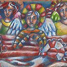 3 Angels in a Boat by Penny Hetherington