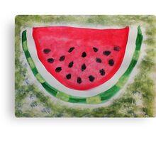 A slice of watermelon, watercolor Canvas Print