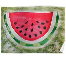 A slice of watermelon, watercolor Poster