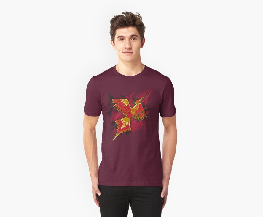 Flames of the Phoenix - digital design by teeshell