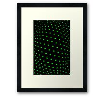 Abstract plastic mesh texture Framed Print