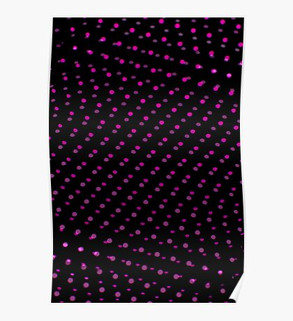Abstract plastic mesh texture Poster