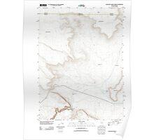 USGS Topo Map Nevada Thousand Creek Gorge 20111229 TM Poster