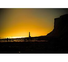 Beachy Head Lighthouse at Dusk from Falling Sands Photographic Print