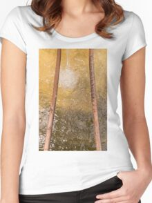 water background Women's Fitted Scoop T-Shirt
