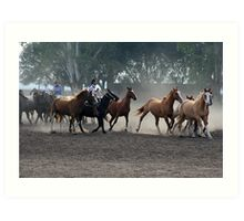 Gauchos at work Art Print