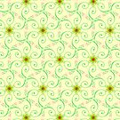 Fresh Lime Swirl Pattern by webgrrl